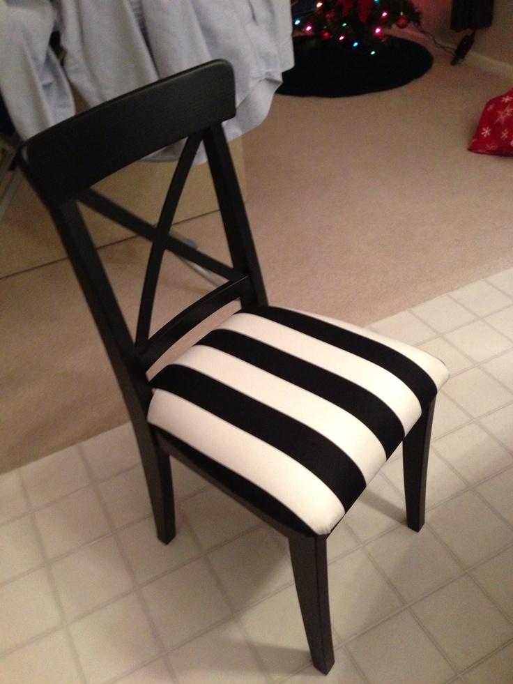 ikea chair with a home made cushion