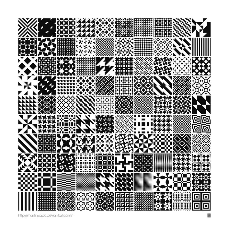 For the betterment of mankind may I present 100 (free) seamless vector pattern swatches (also as symbols) for Adobe Illustrator CS and higher. Marvelous monochrome geometric tessellations great for...