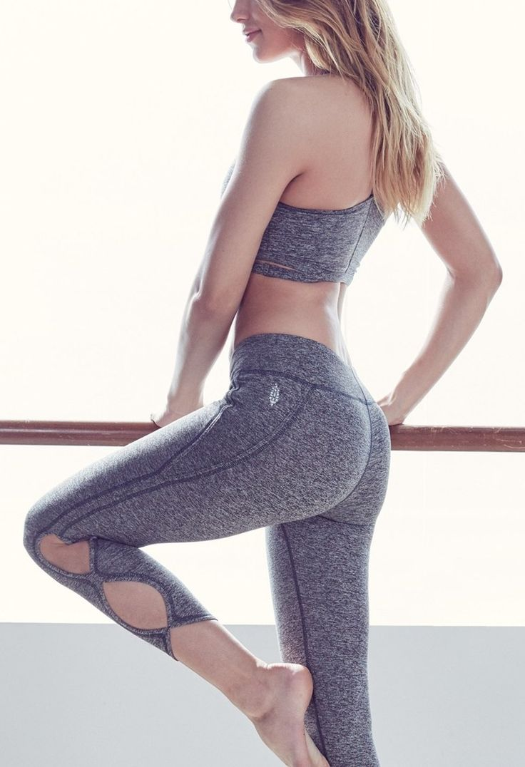 Hitting the gym in these supersoft workout leggings from Free People that are crafted with smooth flatlock seaming that won't rub or irritate skin.