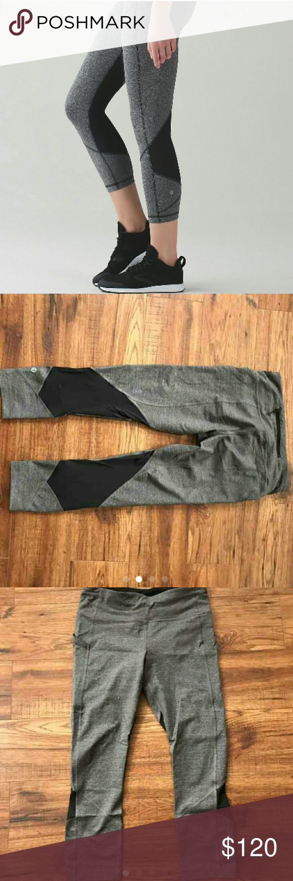 (4) LULULEMON PACE RIVAL CROP Size 4 NWOT tried on once and pulled rip tag off, but the dot size is confirmed in the waistband pocket as a 4. lululemon athletica Pants Track Pants & Joggers