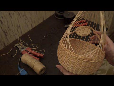 Плетение из лозы-Подвесная корзинка-Wickerwork