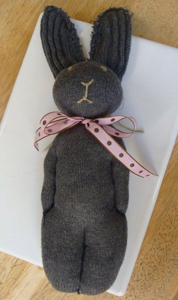 sock bunny finished