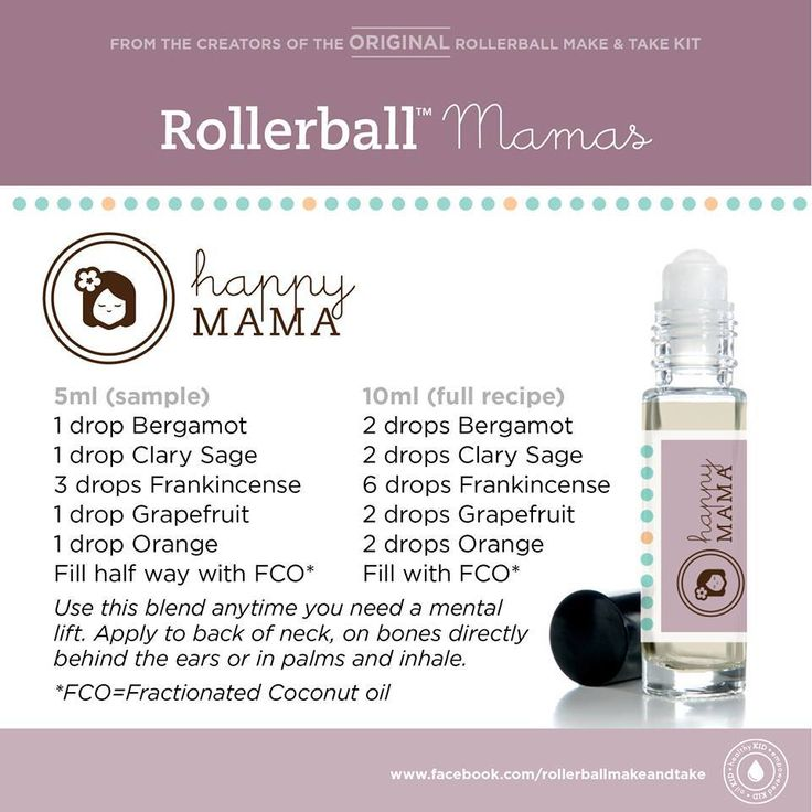 BUNDLE Happy Mama & Calm Mama Label Set w/ (12) 10 ml Clear Rollerbottles - My Oil Gear