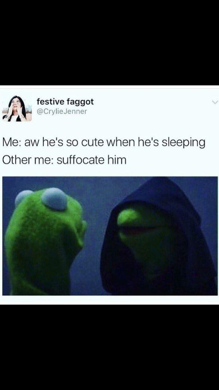 Evil Kermit - suffocate him