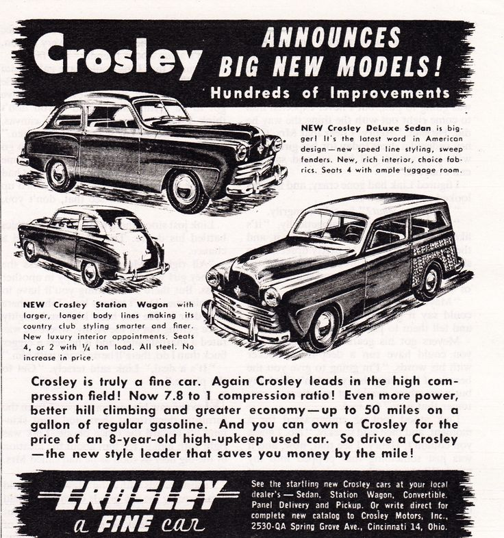 18 best Crosley Car Ads images on Pinterest   Autos, Cars and Automobile