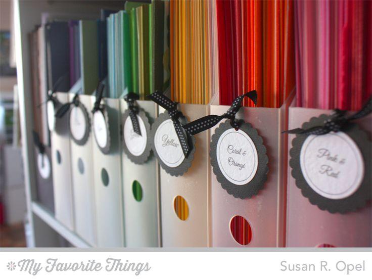 5 Days To An Organized Crafty Stash - Card Stock Storage