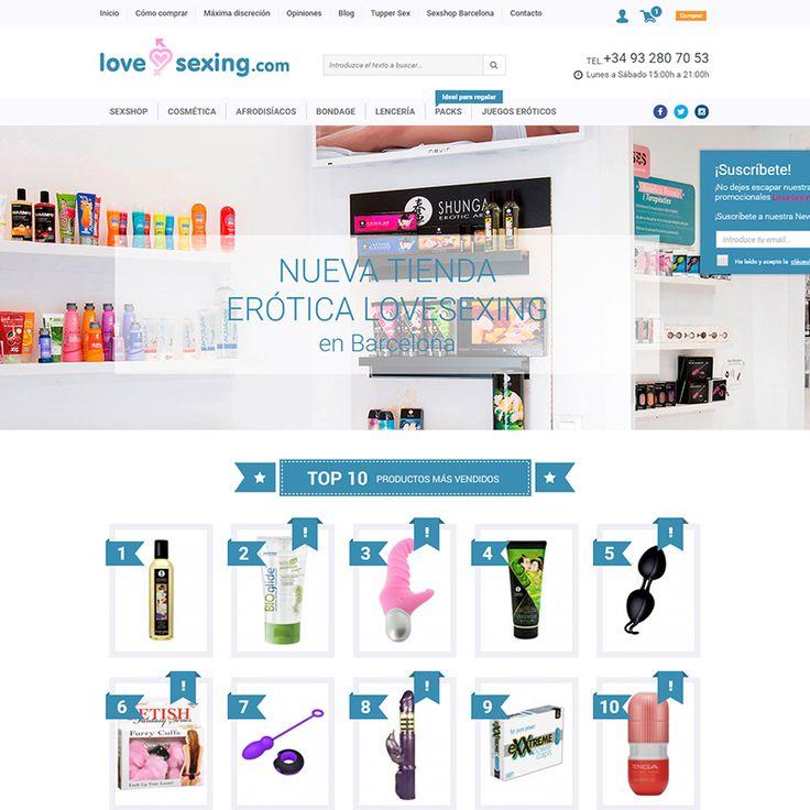 #Diseñoweb de la #tiendaonline de juguetes eróticos Lovesexing.com.