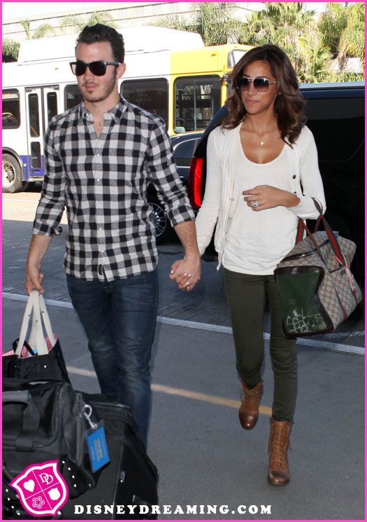 Kevin Jonas And Danielle Jonas Fly Out Of Los Angeles, California October 2, 2012