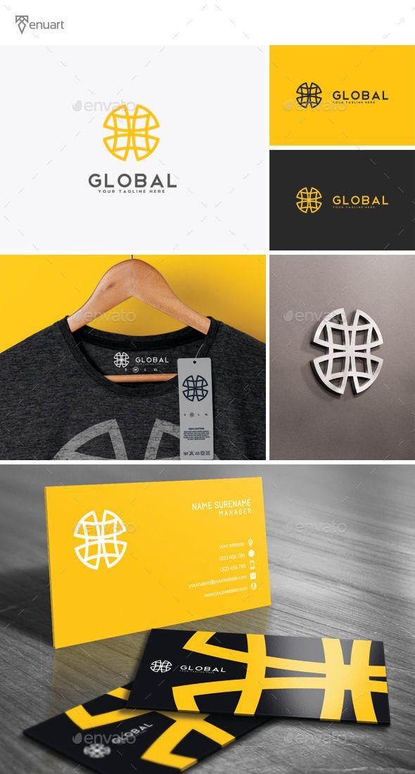 Global  Logo Design Template Vector #logotype Download it here: http://graphicriver.net/item/global-logo/11839825?s_rank=714?ref=nexion