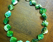 Handmade Green Mother of Pearl Necklace