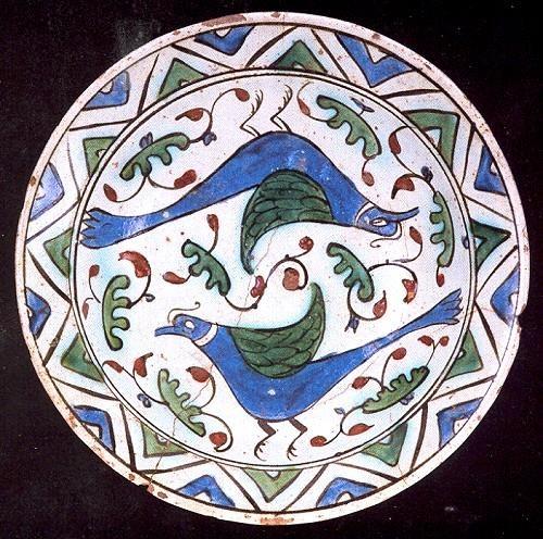 İznik Çini Tabak Çap: 27 cm 16.yy
