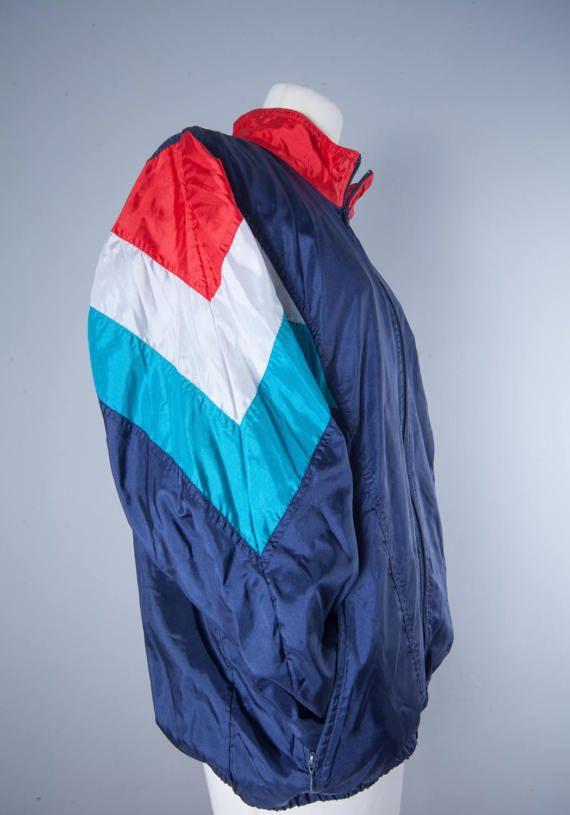 Vintage Adidas Windbreaker Multi Colour Retro by MiauhausLook