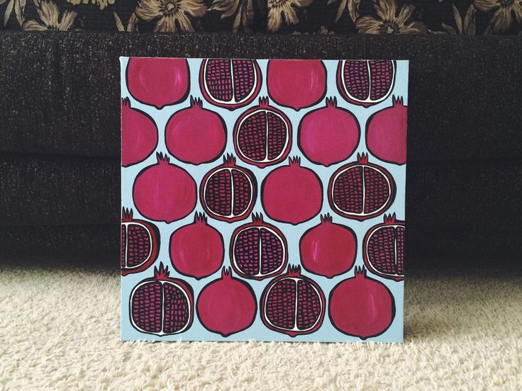 Купить Гранаты New! - бордовый, гранат, картина, голубой, розовый, красный…