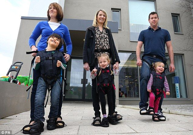 UpSee, A Special Harness That Lets Kids with Physical Impairments Walk with an Adult's Help