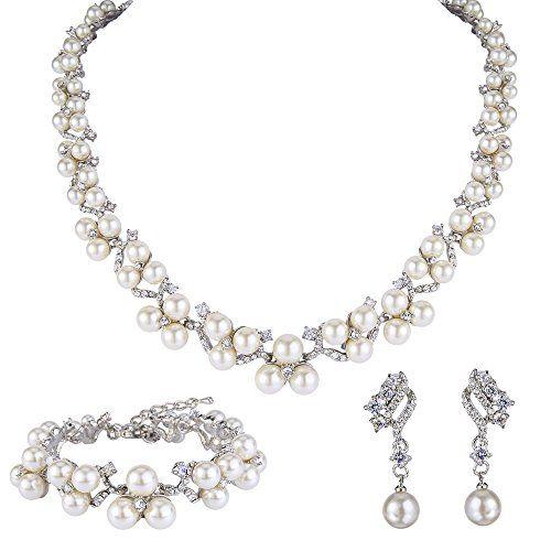 EVER FAITH® österreichischen Kristall CZ künstliche Perle edel Hochzeit Schmuckset Silber-Ton N06562-1 Ever Faith http://www.amazon.de/dp/B0123D6JB0/ref=cm_sw_r_pi_dp_3Irbxb0Q623AK