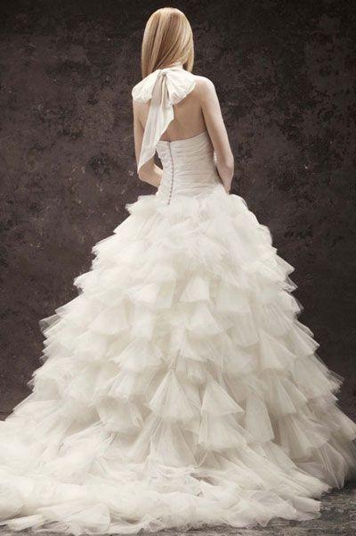 Вера Вонг свадебные платья пышной формы