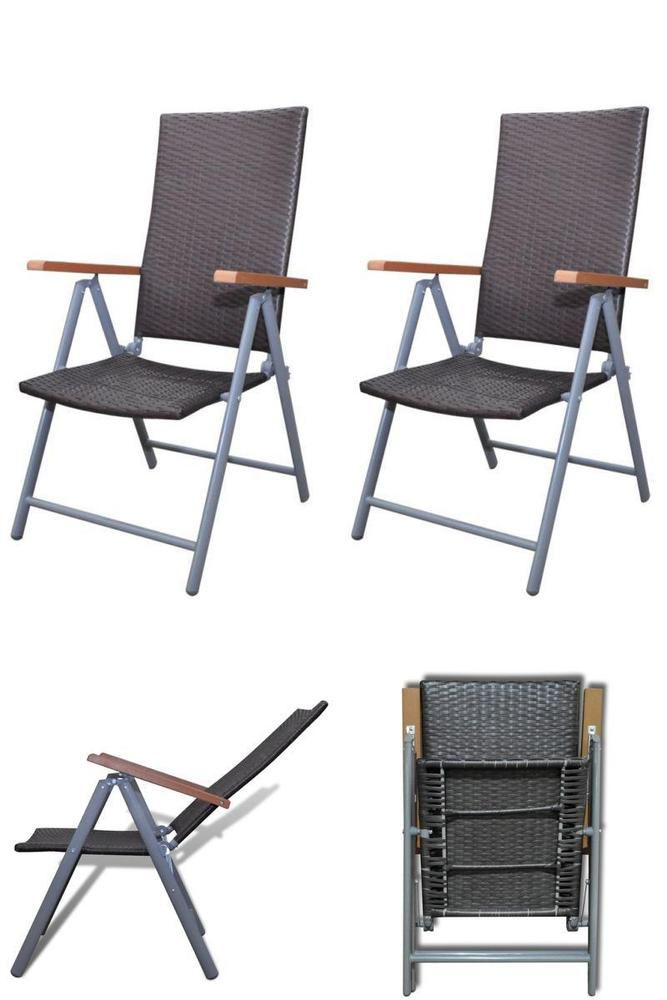 Reclining Outdoor Chairs 2 Pc Folding Garden Seats Patio Furniture