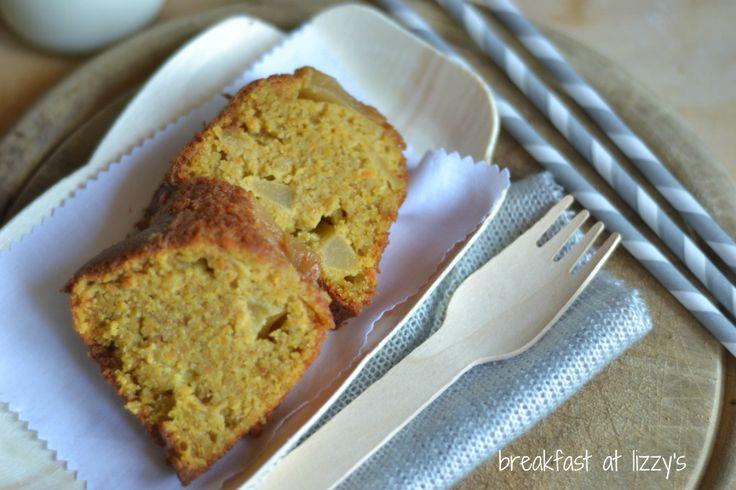 Buondì a tutti voi!   Per la colazione di oggi vi offro una tortasalutare  a base di farina integrale , farina d'avena,  mele e caro...