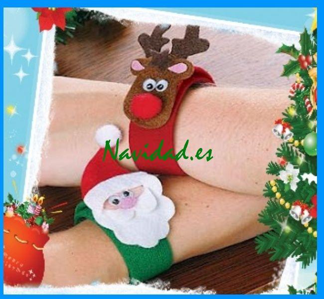 Pulseras navideñas de fieltro