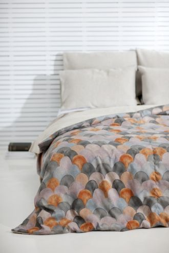 Fish Scale Bed Cover-chic colors