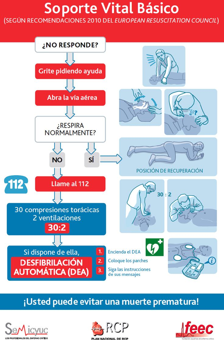 Basic life support and semi-automated external defibrillation Soporte Vital Basico Spain
