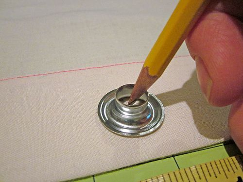 How to install a metal grommet.