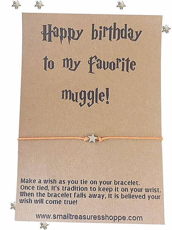 Harry Potter Birthday Card, Harry Potter Jewelry, Harry Potter, Wish Bracelet, Make A Wish Bracelet