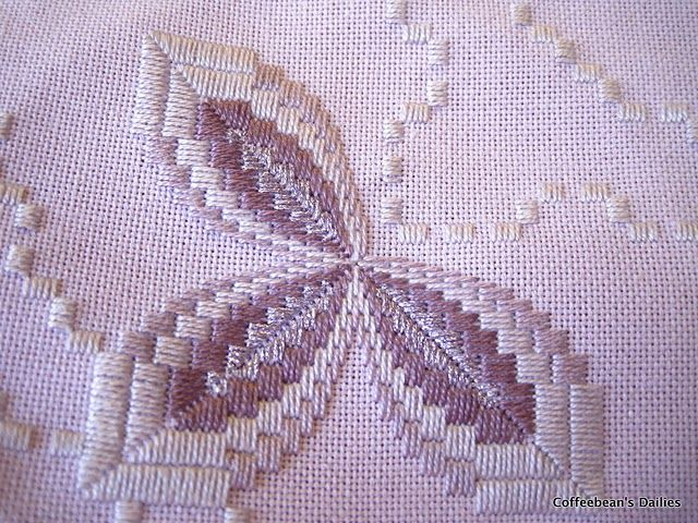 hardanger bargello fusion, love it. I finally found this pattern. It is by Vaughnie's Visions II. A Touch of Metallic sold at NordicNeedle.com Created by Vaughnie Olivieri.