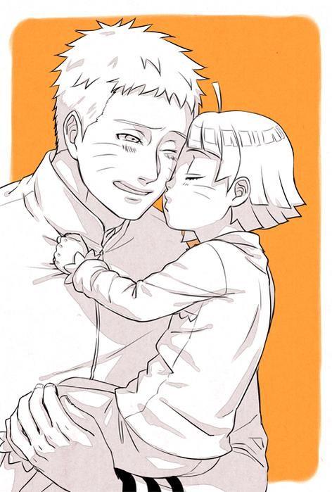 Naruto and Himawari [by https://twitter.com/halsakurajam]