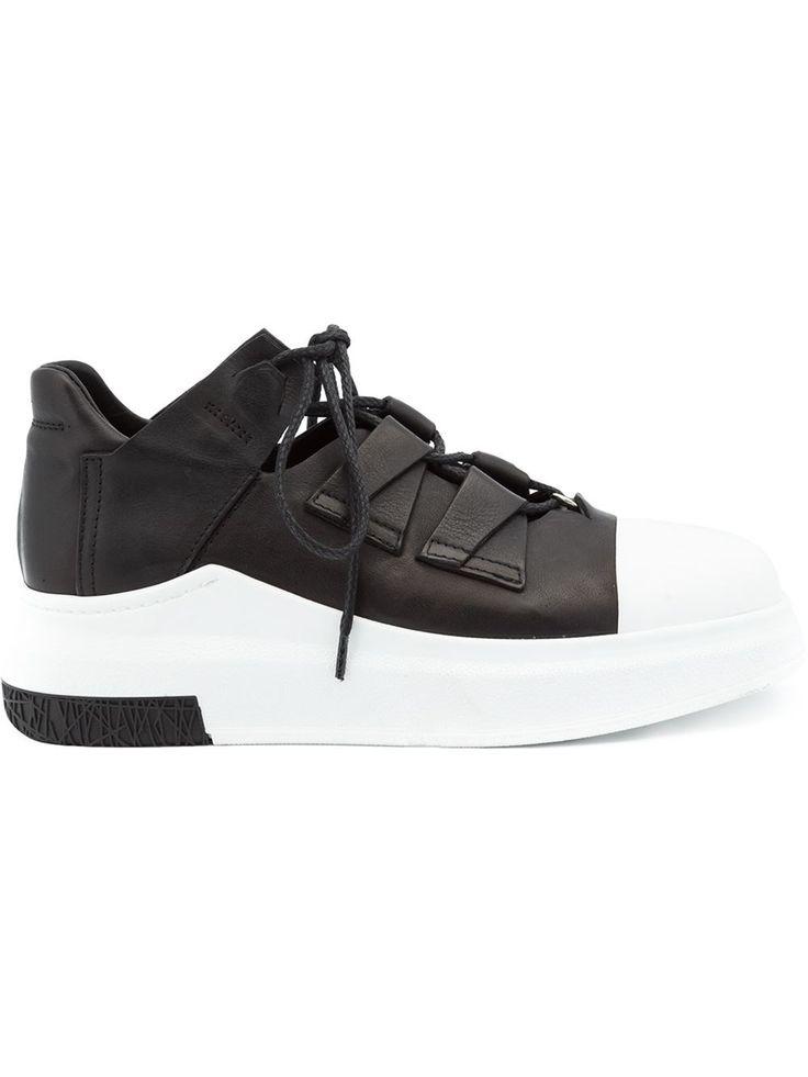 Versace Chaussures De Sport À Deux Tons - Blanc BESBCZd