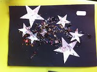 New Years / Bonfire Night Activity Craft - Firework Picture