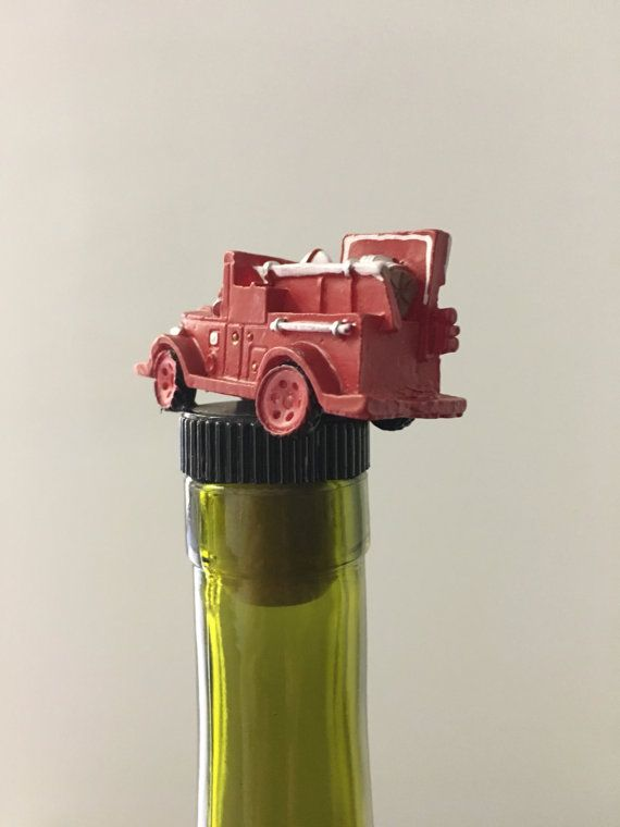 Firetruck Wine Stopper Fireman Bottle by TheDecorativeCompany
