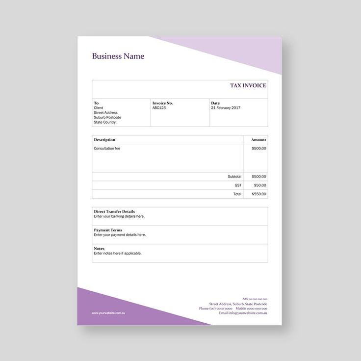 Word invoice template for sale.