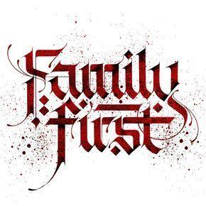 "Fraktur ""Family first"" | Tattoo lettering fonts, Graffiti ..."