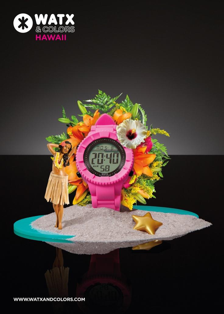 WATX & COLORS Hawaii: Relojes de colores tendencia con esferas y correas intercambiables. ¡Más de 100 combinaciones diferentes para estrenar reloj cada día!
