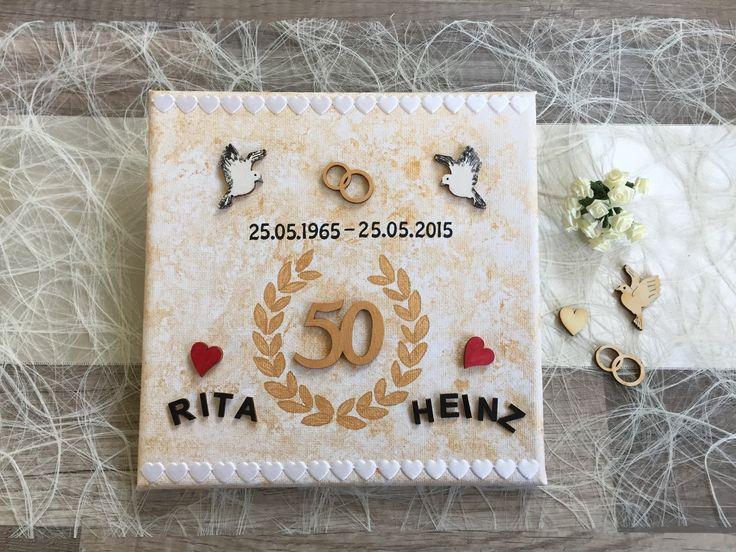 personalisiertes Geschenk zur goldenen Hochzeit