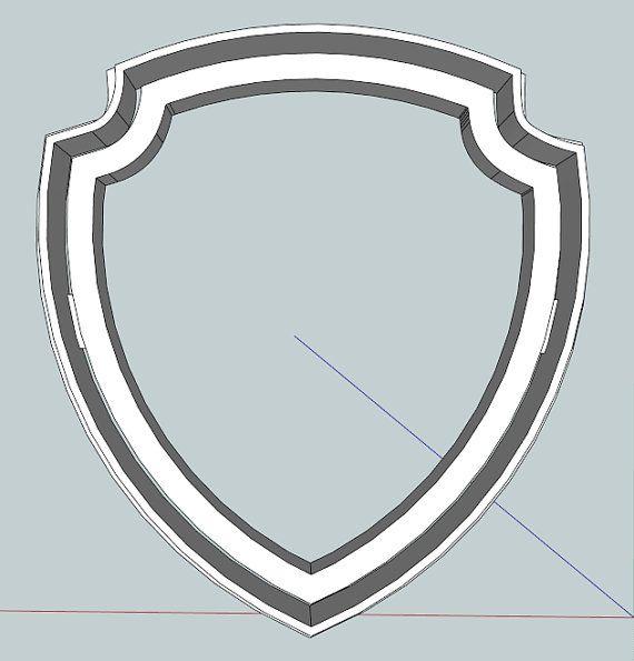 Paw Patrol Badge Cookie Cutter by Geek2Geek on Etsy, $8.00