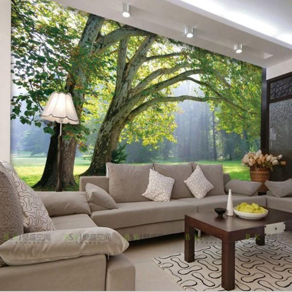 3d Natural Landscape Park And Trees Theme Wall Mural Wallpaper In 2021 Wall Murals Bedroom Tree Mural Bedroom Floor Murals Cool wallpaper for living room