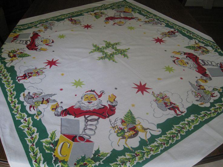 17 Best images about Vintage Tablecloths on Pinterest ...