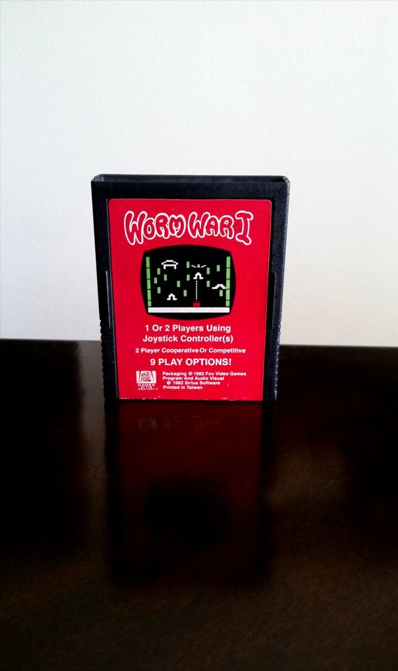 Atari 2600 WORMWAR1 Video games by FOX Games of by PardonMyGames