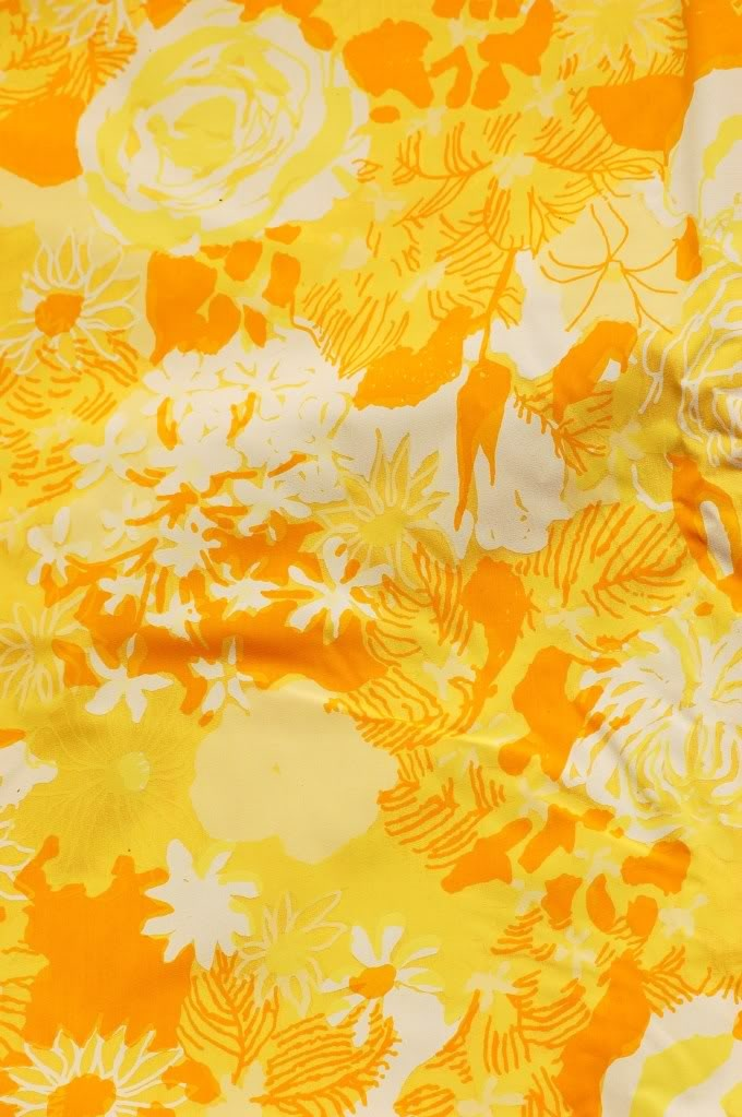 Lilly Pulitzer vintage print. yellow and orange