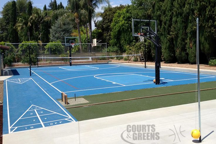 Best 25 backyard basketball court ideas on pinterest for Home basketball court cost