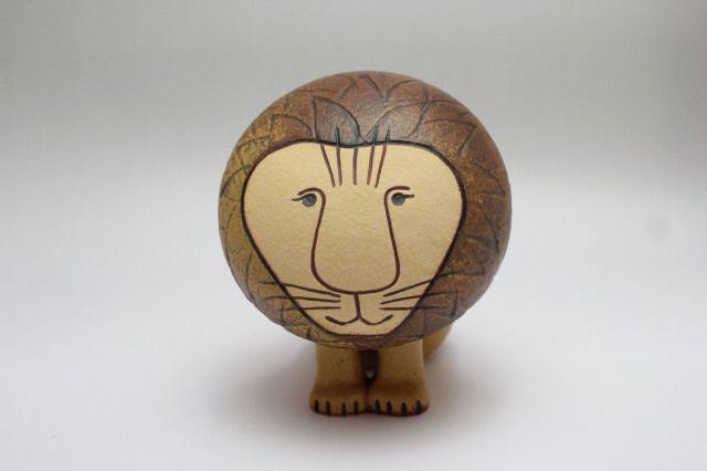 Lisa Larson AFRICA LION ライオン M size: 14cm designed: Lisa Larson (KERAMIKSTUDION GUSTAVSBERG)