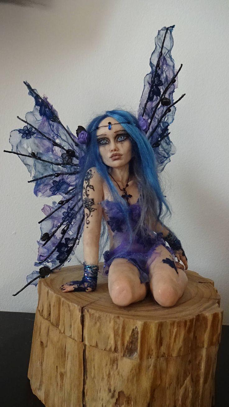 SHADOWSCULPT OOAK Fee Gothic Fantasy Wald gotischen Feen Wald Elf Kunst Puppe Skulptur Figur von shadowsculpt auf Etsy https://www.etsy.com/transaction/1255323984