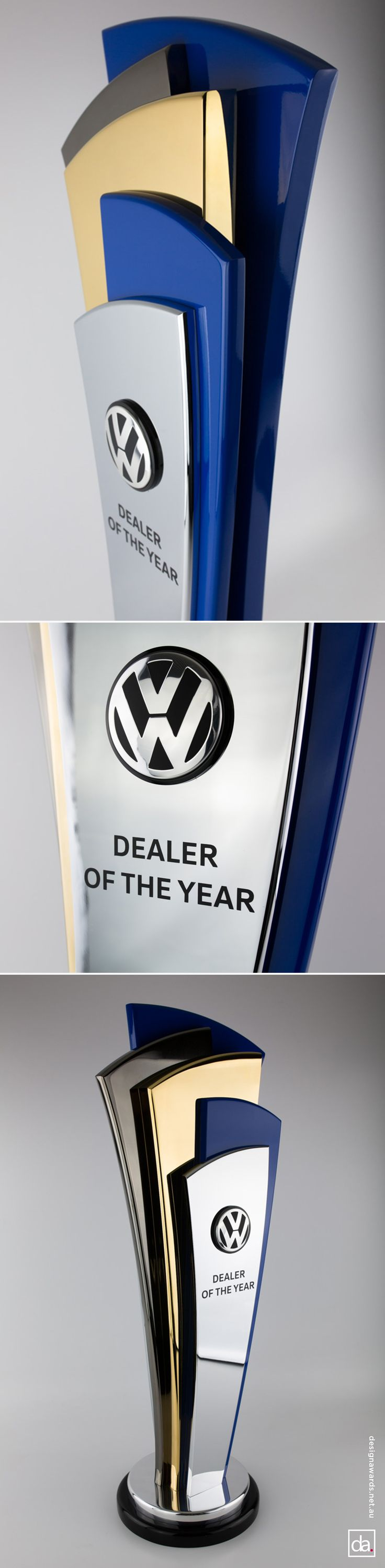 Unity tall modern trophy creative design beautiful materials not glass - Volkswagen Australia Dealer Of The Year Trophy Design Awards
