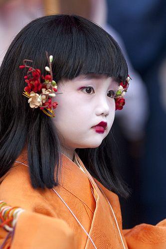 Zuiki-matsuri,  Chigo (Children in traditional attire in the pageant)
