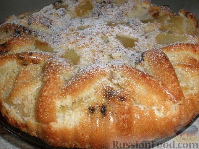 Рецепт: Быстрый пирог-шарлотка с яблоками на RussianFood.com