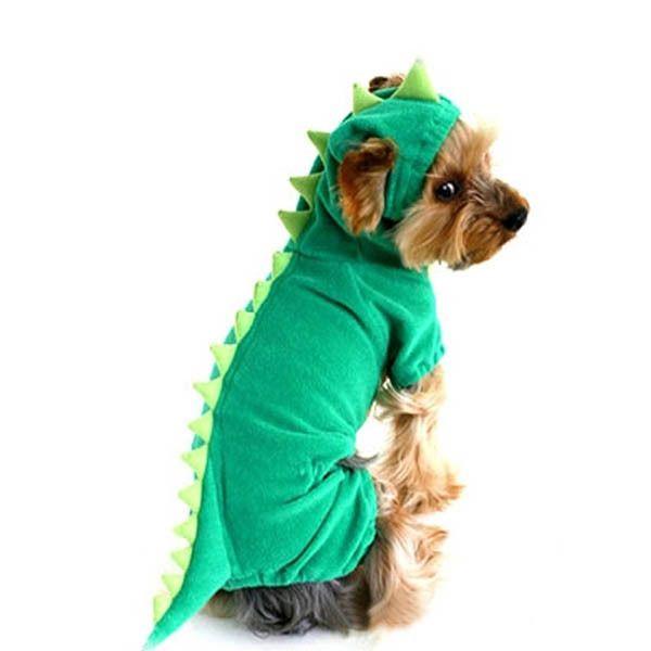 Pijamas de gato cão roupas de vestuário casaco com capuz macacão traje de dinossauro alishoppbrasil