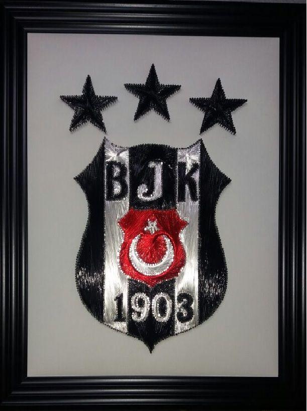 Beşiktaş 3 ( üç ) yıldız logosu filografi çalışması deseni Serdi Filografi