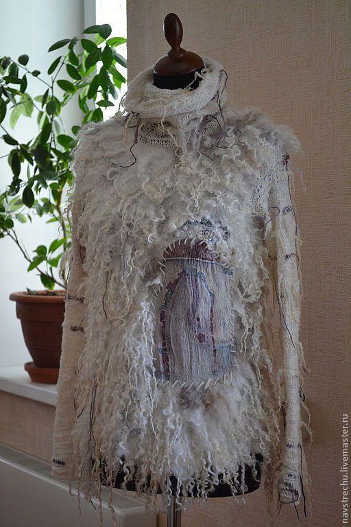 """Пуловер """"НЕскучный"""" батик, меринос, шелк – купить в интернет-магазине на Ярмарке Мастеров с доставкой"""